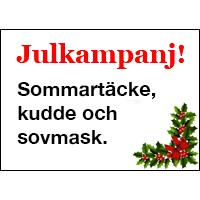 Julkampanj! Sommartäcke och kudde och sovmask. (ord pris 1.560 sek)