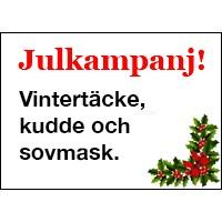Julkampanj! Vintertäcke, kudde och sovmask. (ord pris 1.870 sek)